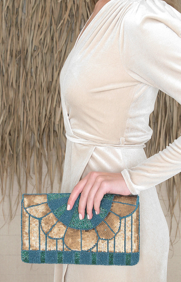 Suva Beaded Clutch