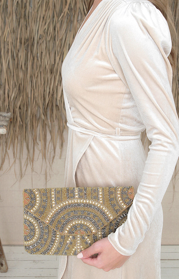 Brooklyn Beaded Clutch