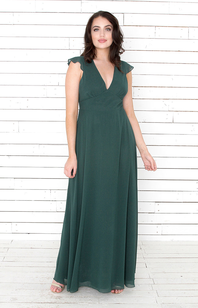 Faye Gown - Forest Green