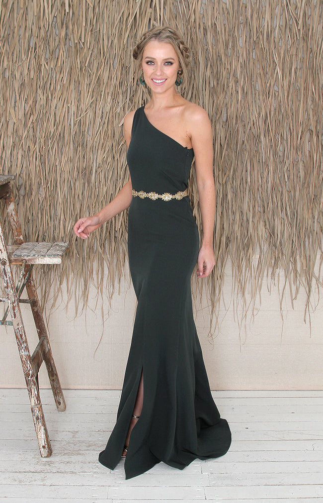Raven Gown - Forest Green