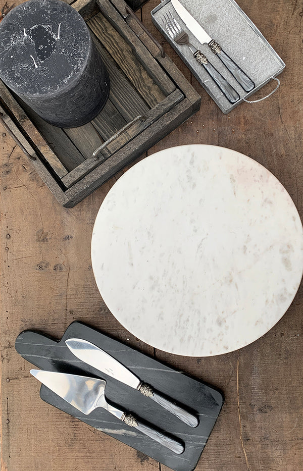 Ellin Marble Turntable - White