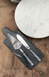Linas Cake Server & Knife - Coal