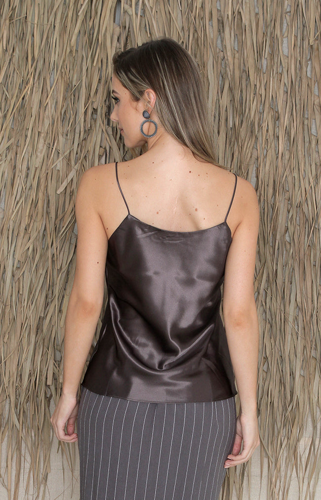 Ines Top - Charcoal
