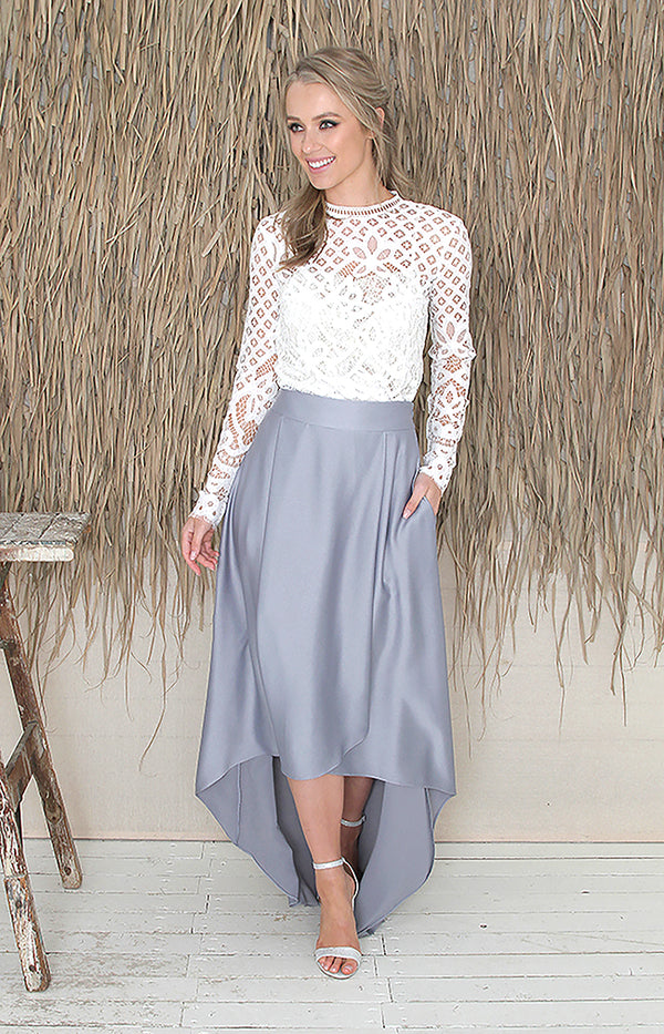 Tessa Skirt  - Dusty Blue