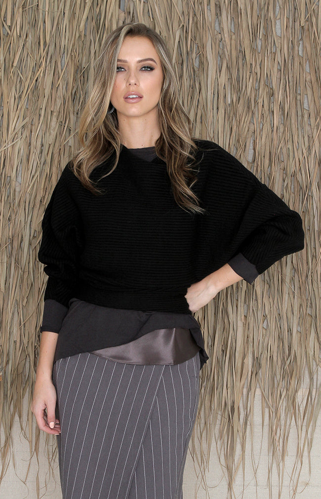 Jana Wrap Skirt - Carbon