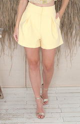 Anya Shorts - Lemon