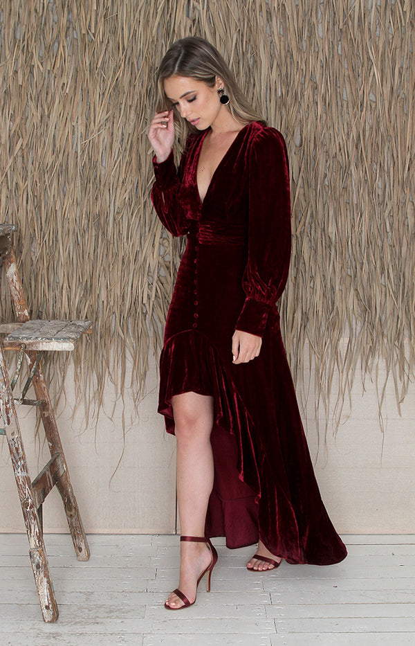 Demi Dress - Wine