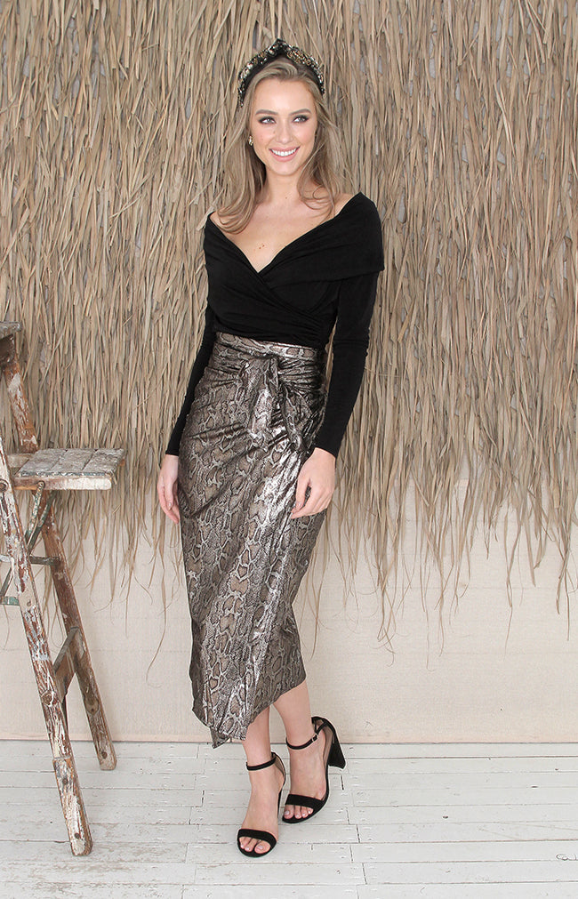 Keaton Skirt - Gold