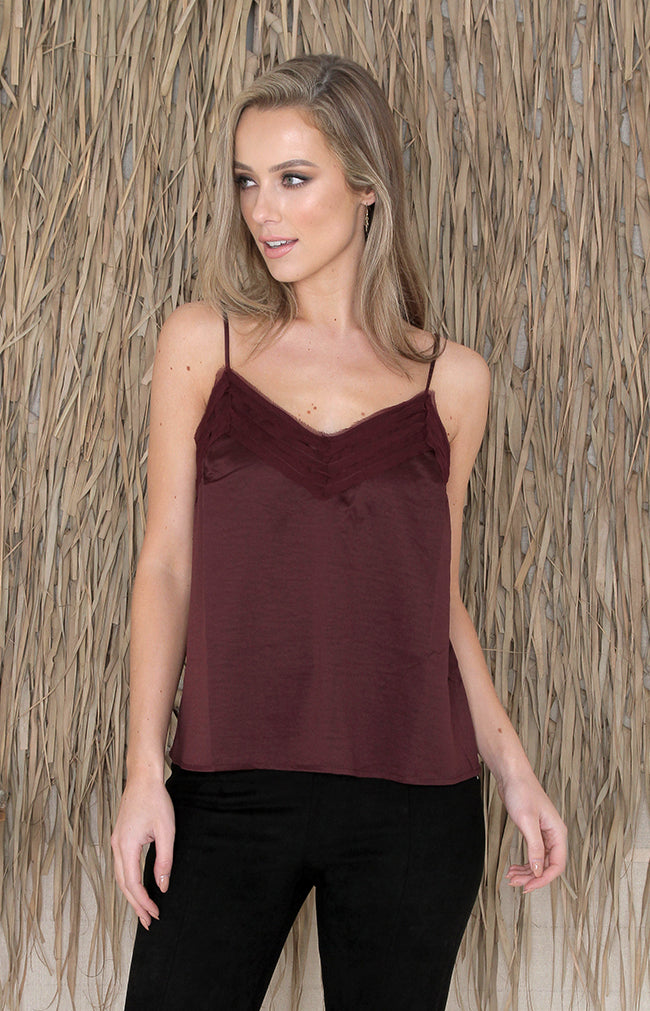 Jane Top - Burgundy