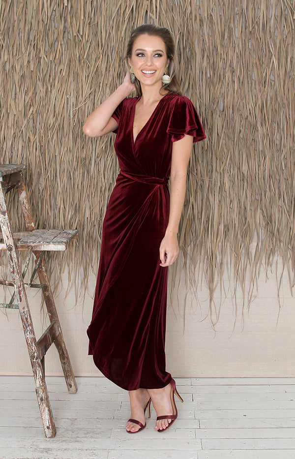 Tallulah Dress - Burgundy
