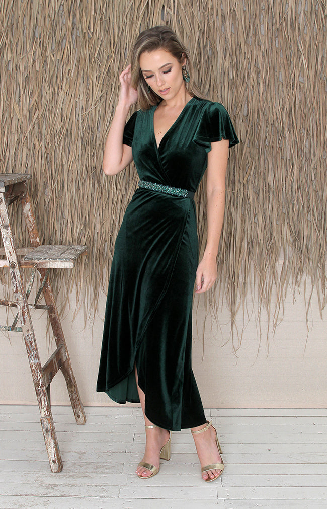 Tallulah Dress - Forest Green
