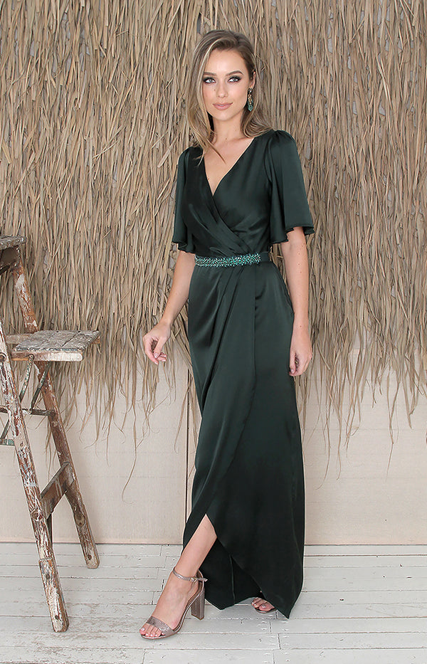 Renata Gown - Forest Green