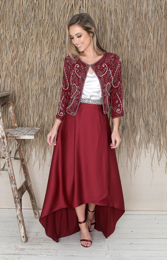 Tessa Skirt - Burgundy