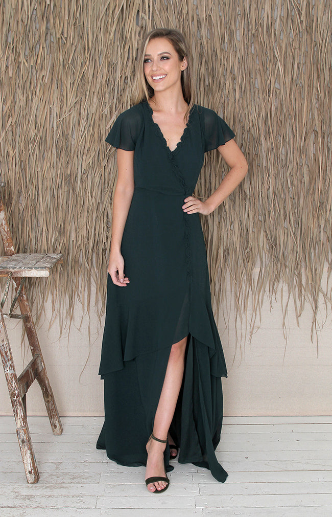 Zosia Dress - Forest Green