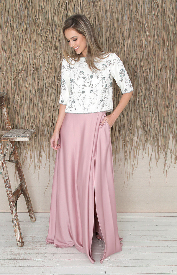 Sarena Skirt - Dusty Rose