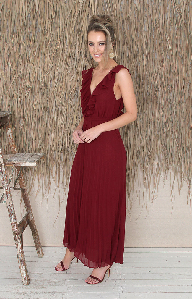 Willow Dress - Burgundy