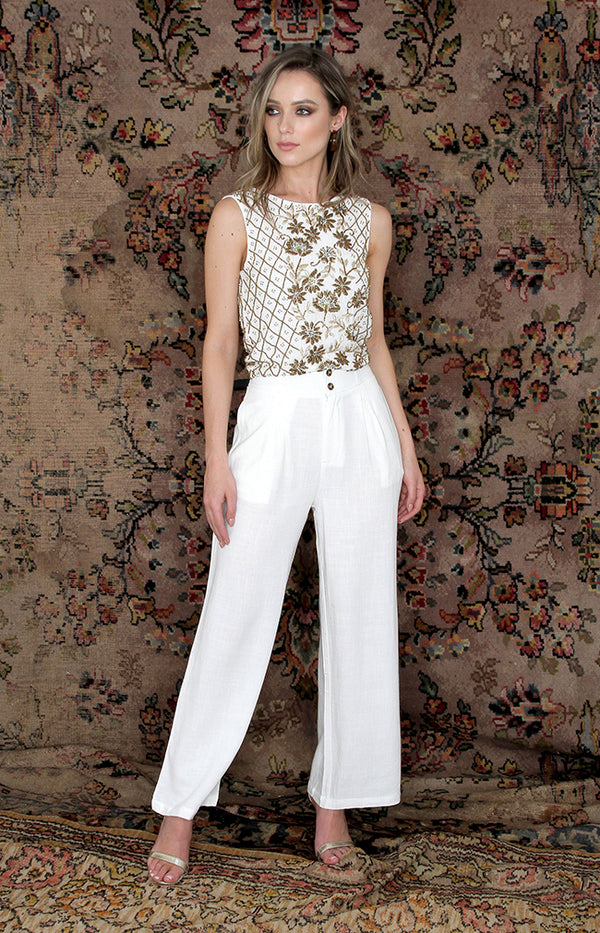 Odette Trousers - Cream