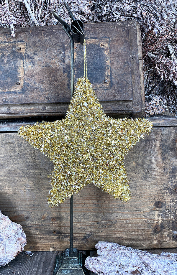 Tinsel star gold 15cm