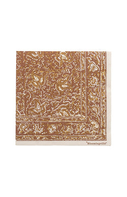 Printed Paper Napkin - Brown