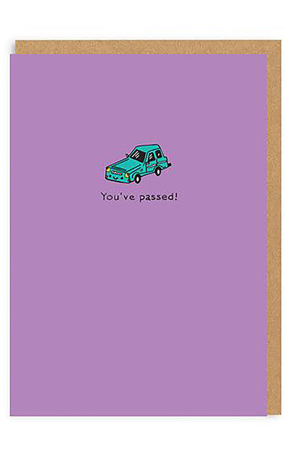 You've Passed Car Enamel Pin Greeting Card