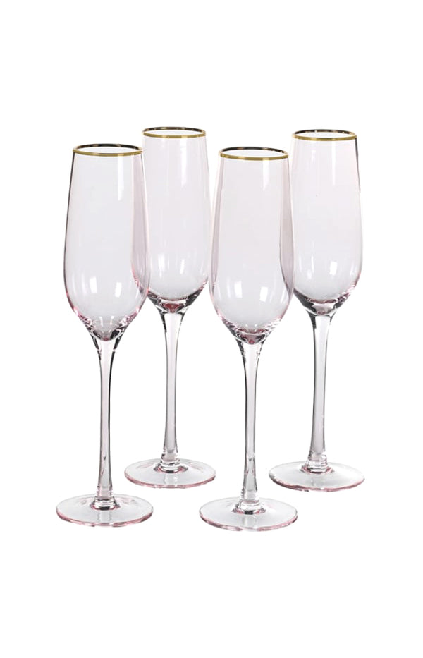 Pink Tone Champagne Glass