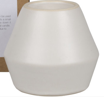 Dice Candle Holder - White