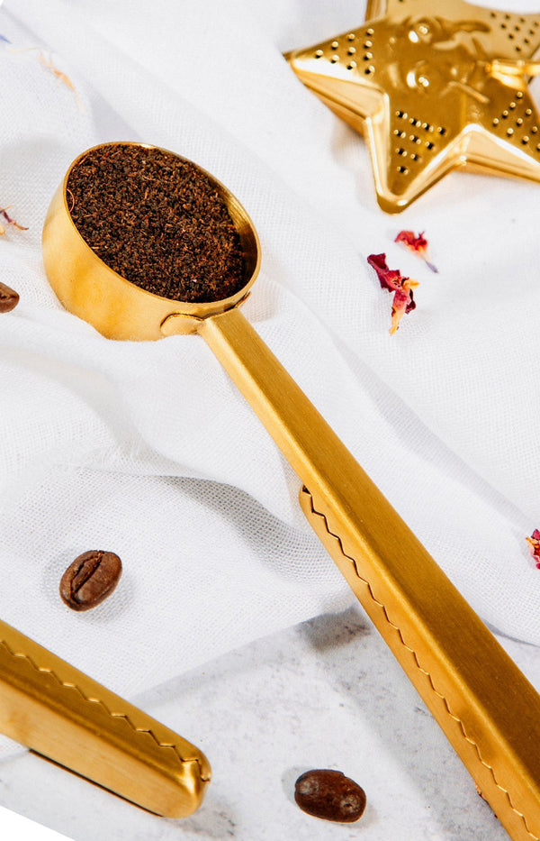 Brass Coffee Scoop Clip