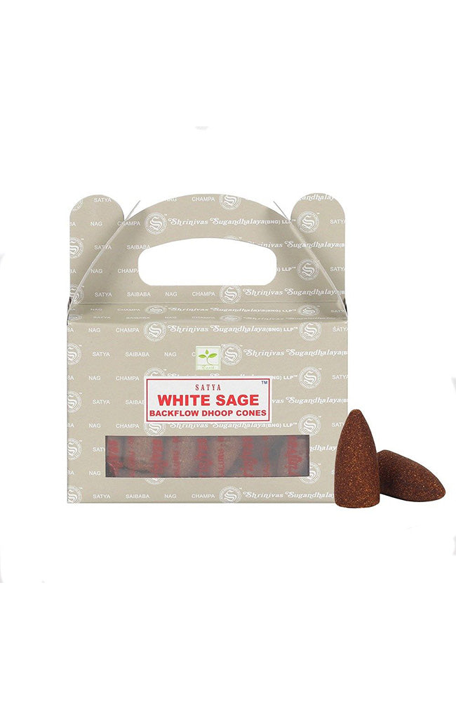 White Sage Backflow Dhoop Cones - Satya
