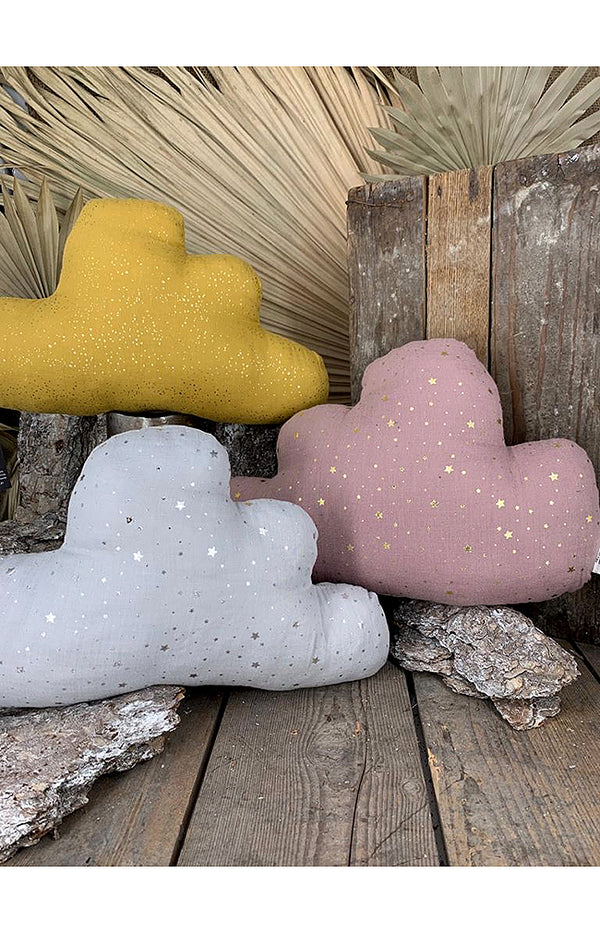 100% Cotton Cloud Pillow - Mustard
