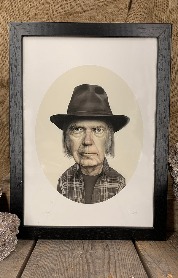 Framed Conor Langton Print - Black