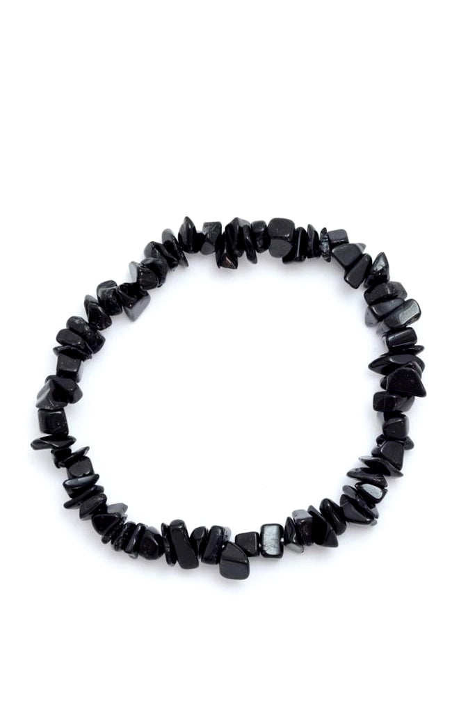 Crystal chip bracelet : Black Tourmaline