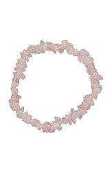 Crystal Chip Bracelet - Rose Quartz