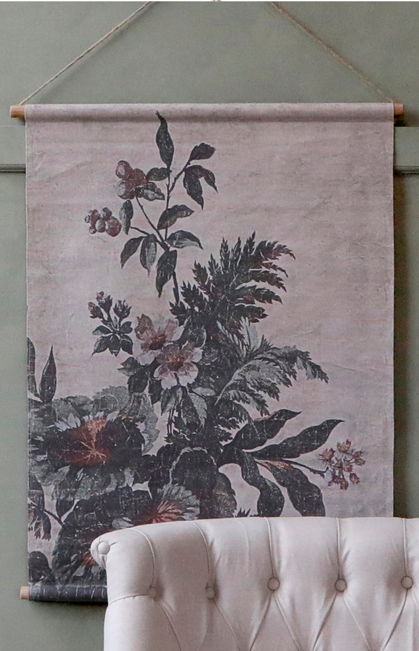 Floral Print Hanging Canvas