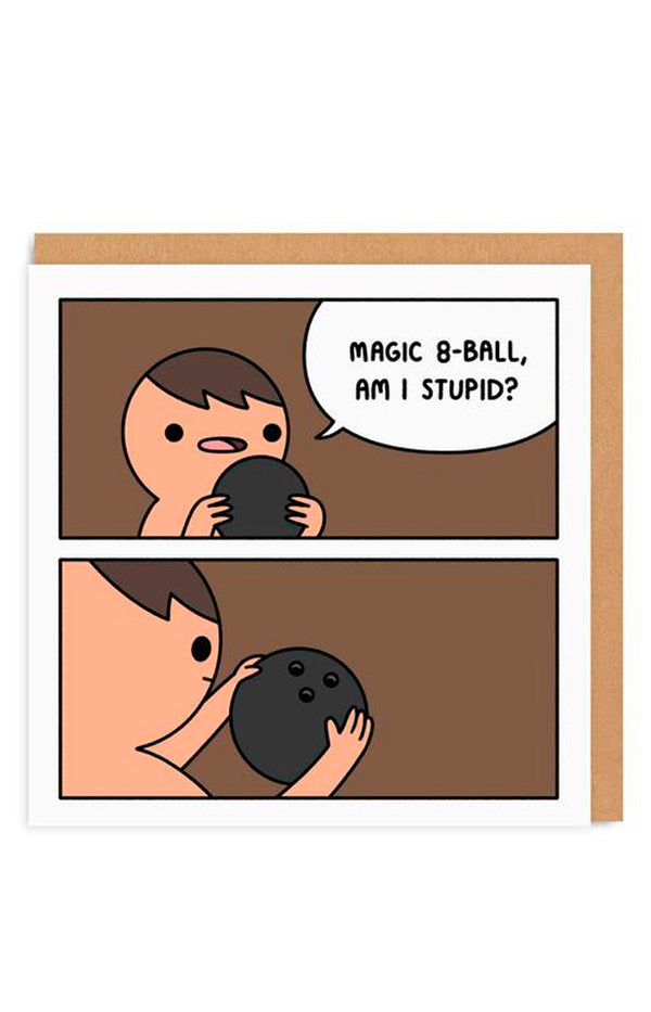 8 Ball Greeting Card