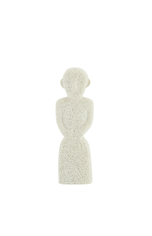 Figure Stoneware Decoration - White - 20cm