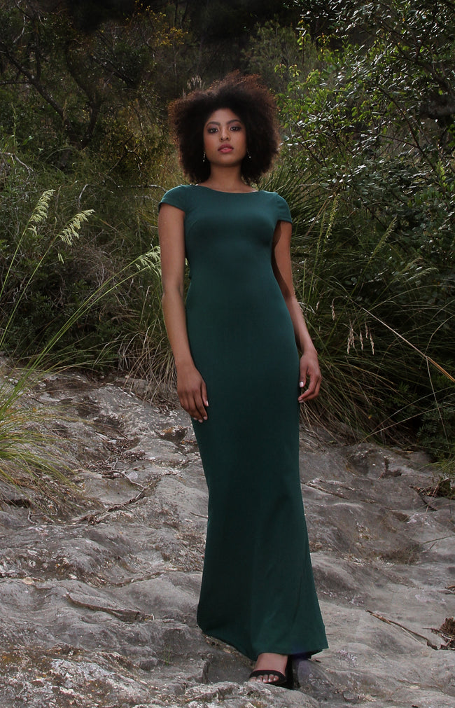 Elle Gown - Forest Green