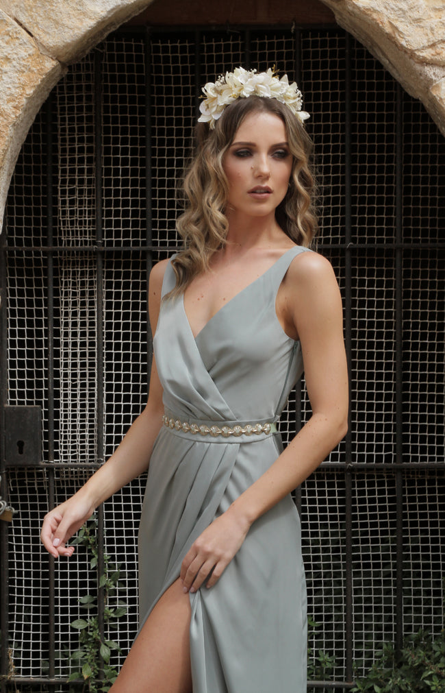 Fabia Gown - Sage