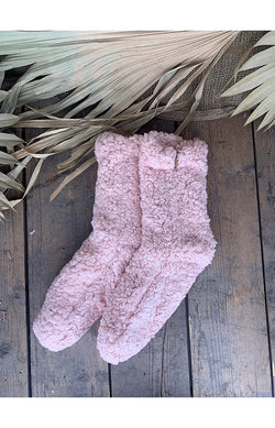 Fluffy Socks - Blush