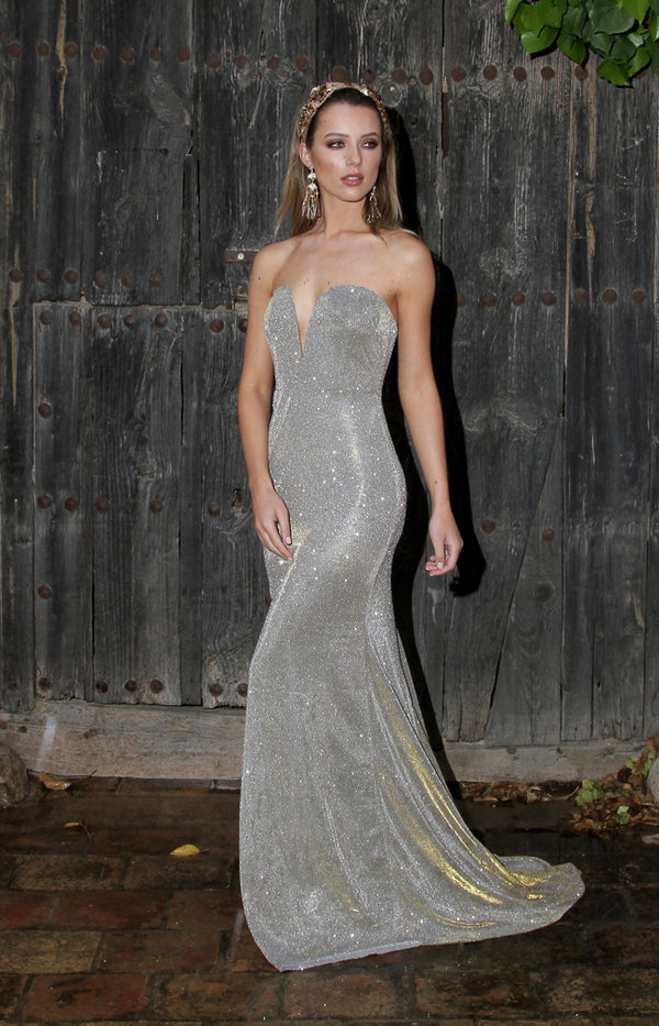 Gloria Gown - Silver/Gold
