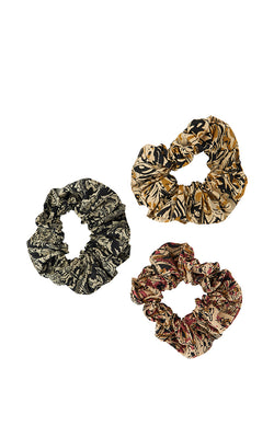 Printed Cotton Scrunchie