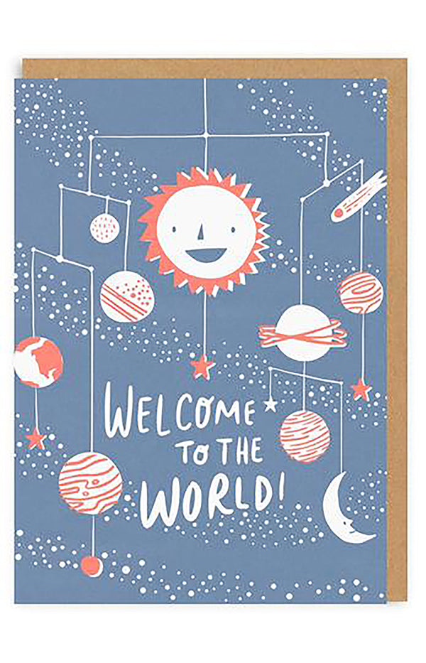 Welcome To The World Greeting Card - Planets