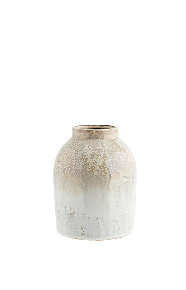 Honey Stoneware Vase - 15x19cm