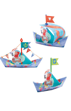 Origami - Floating boats