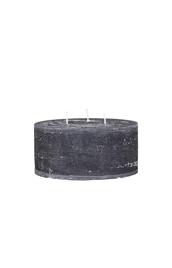 Macon Rustic Pillar Candle - 42H - Coal