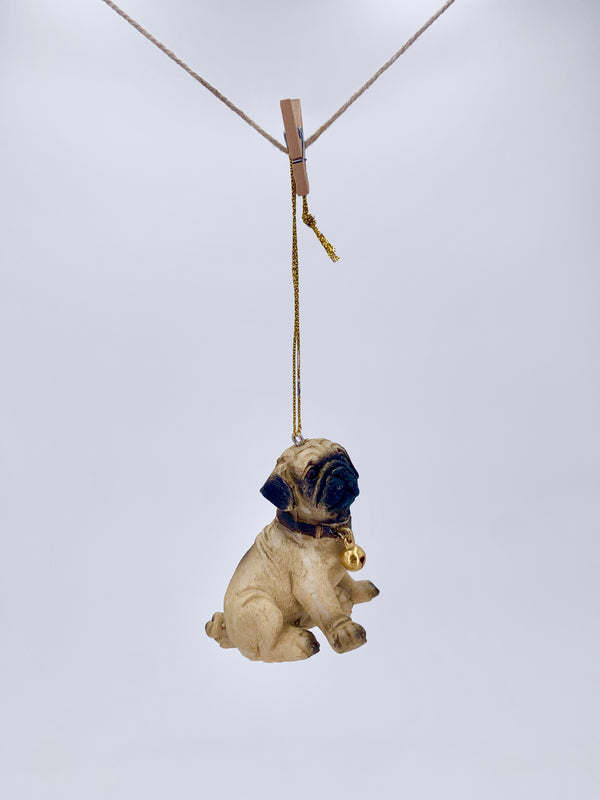 Mops Puppy Ornament