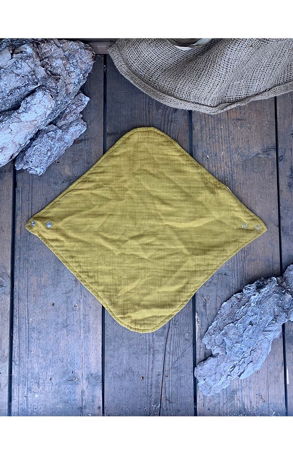 100% Cotton Bib  - Mustard