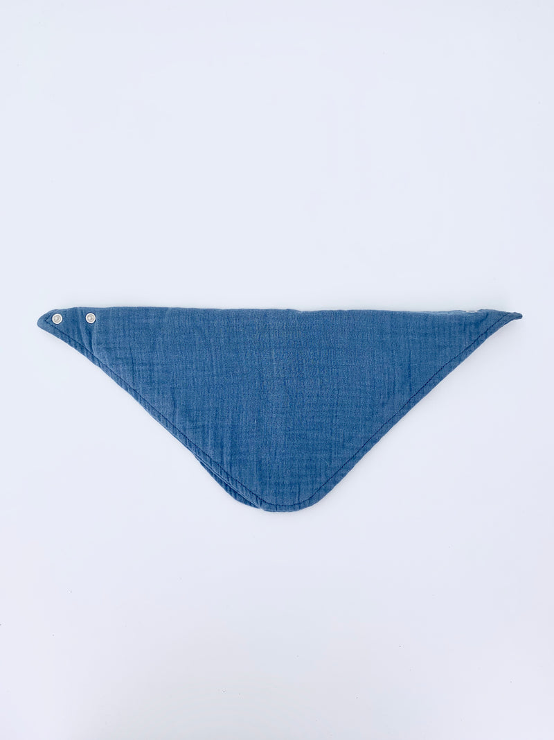100% Cotton Baby Bib- Space Blue