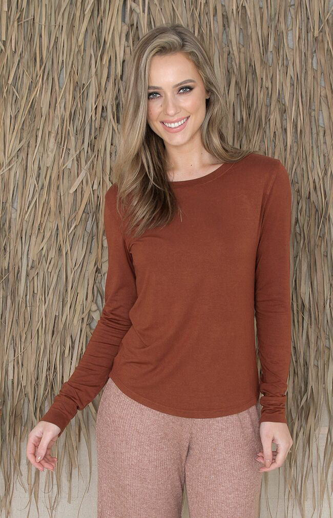 Jonah Long Sleeve Top - Rust