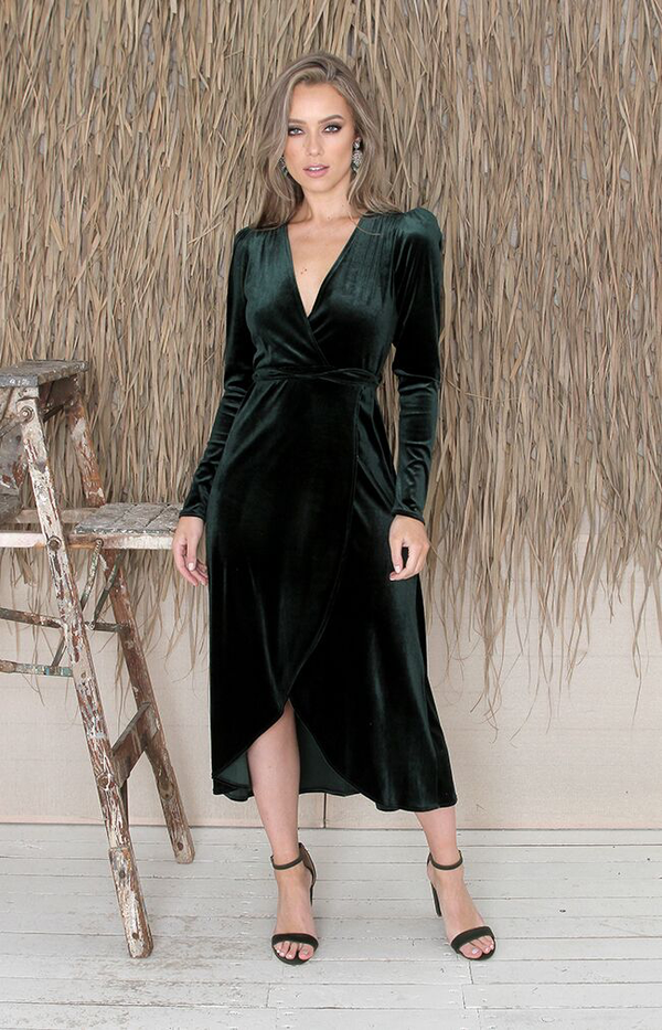 Zola Dress - Forest Green