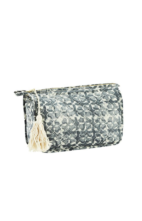 Printed Toiletry Bag W/ Tassels